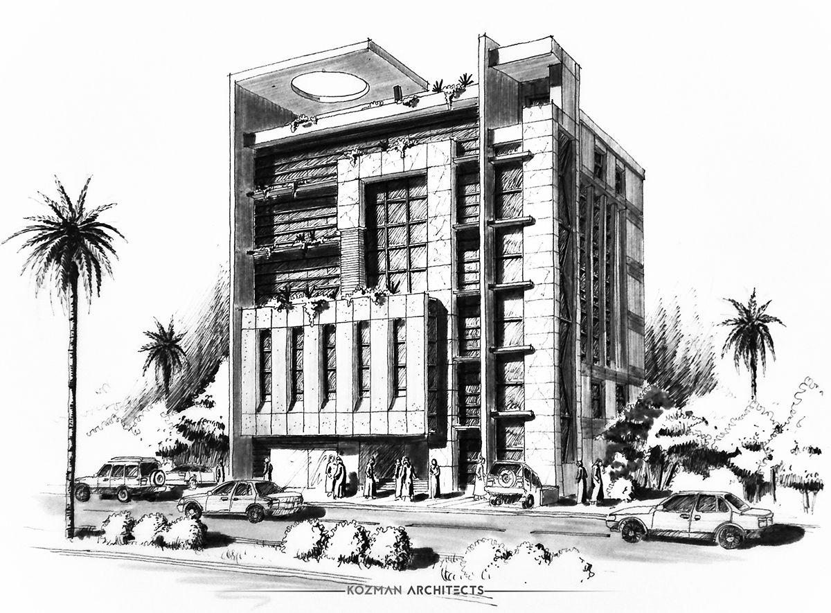 Modern Office Building  Jeddah  KSA Design By KOZMAN On Behance - Modern building sketches