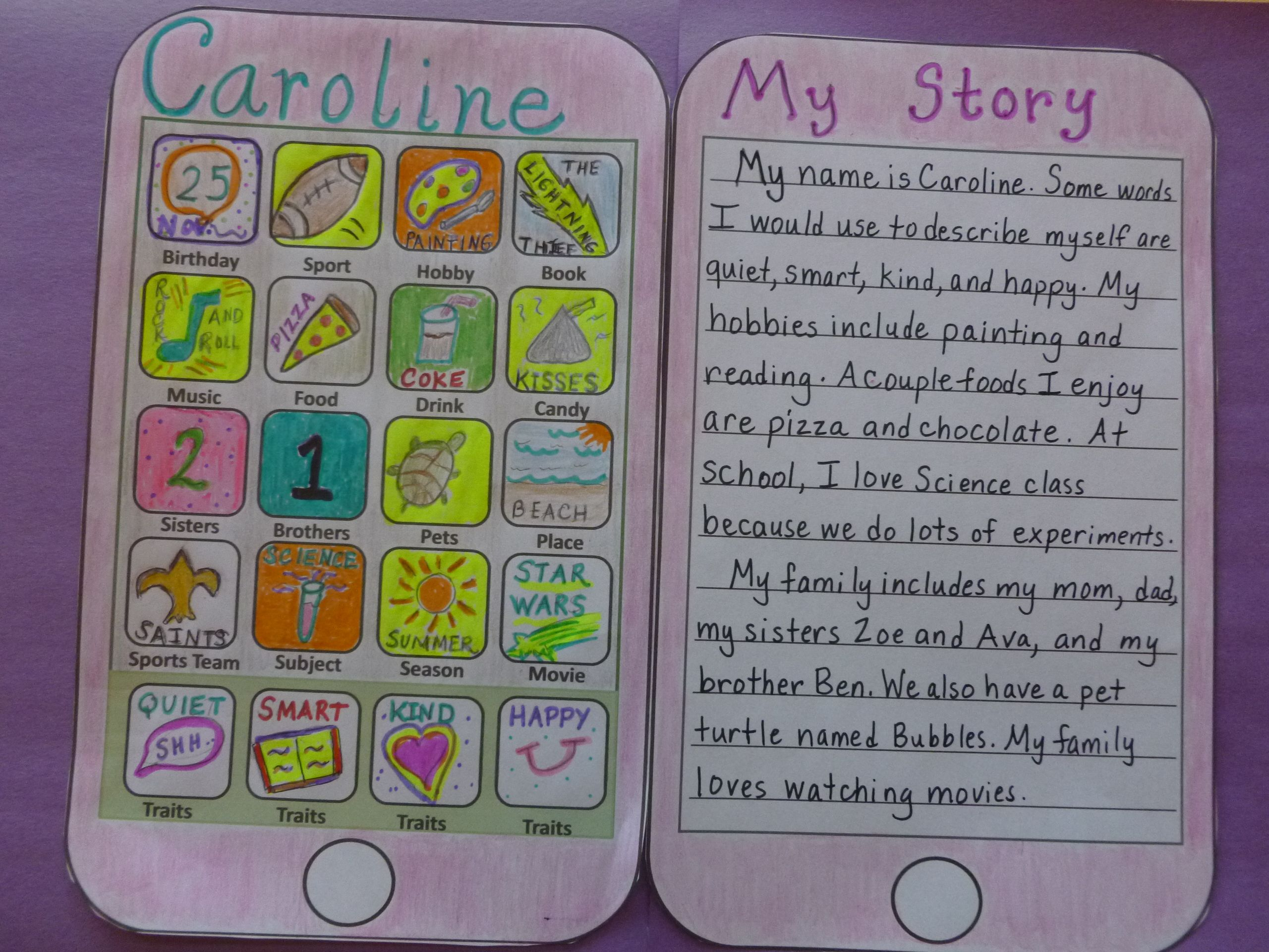 Fun Back To School Craft Design Your Own Cellphone Apps To Describe