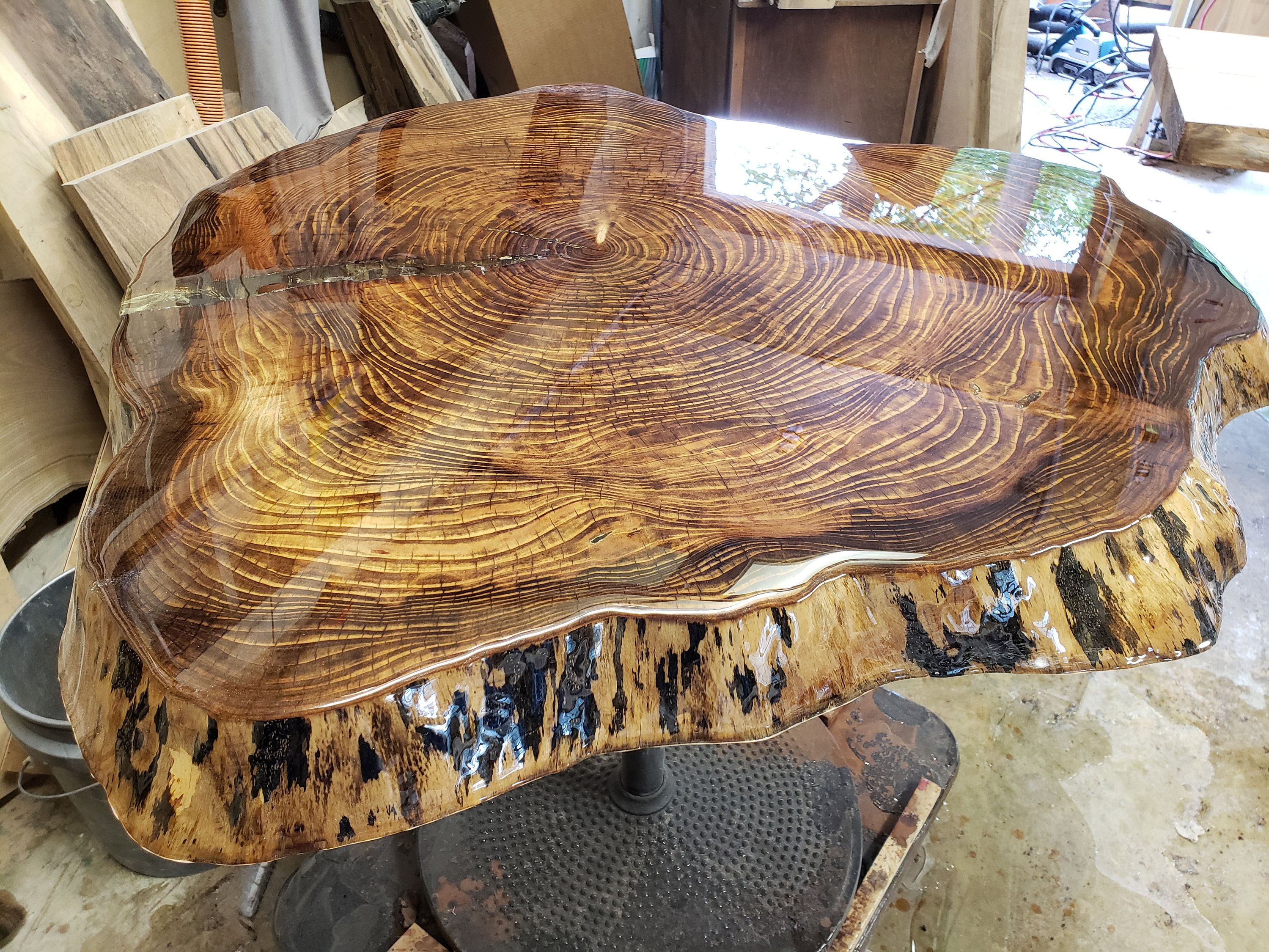 Live Edge Charred Wood Table Top Epoxy Resin Slab Wood Coffee Table Pub Table Round Wood Slab Wood Slab Dining Table Coffee Table Wood Round Wood Table