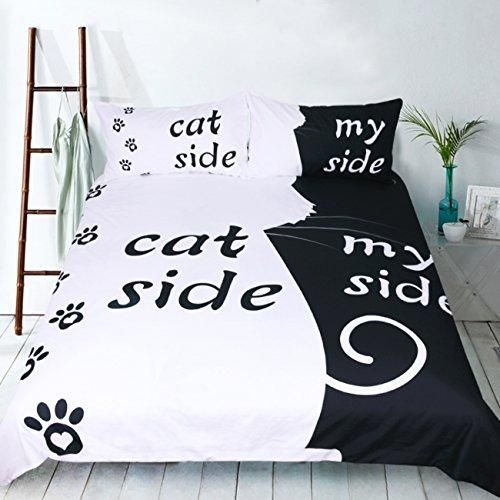 Cat Side My Side Bed Sheets Funny Gifts Side Bed Cute Bedding