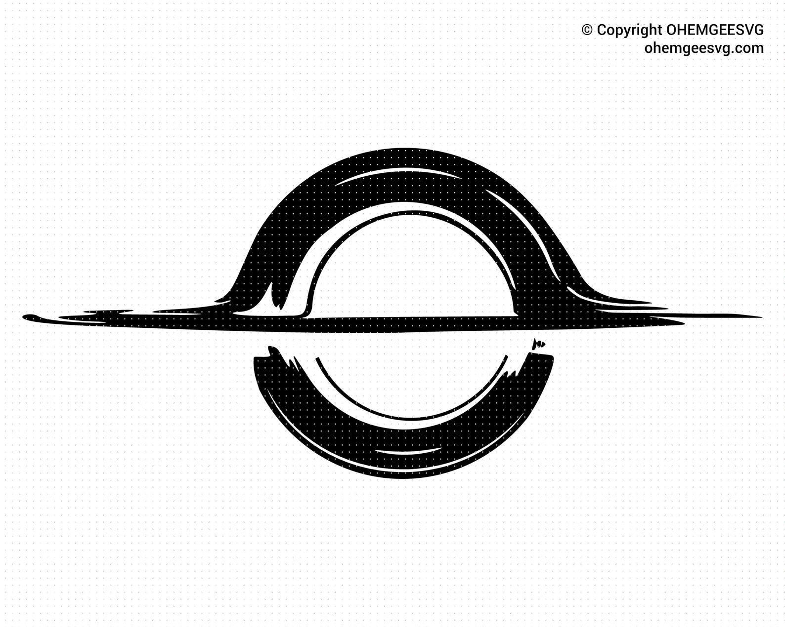 Black Hole SVG Black Hole Silhouette Solar System SVG