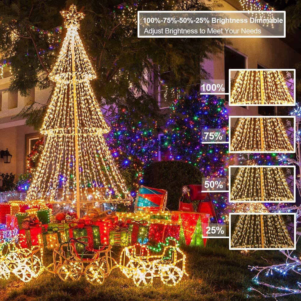 Christmas String Lights 66 Ft 200 LED Indoor Outdoor Xmas Tree Party Decorations