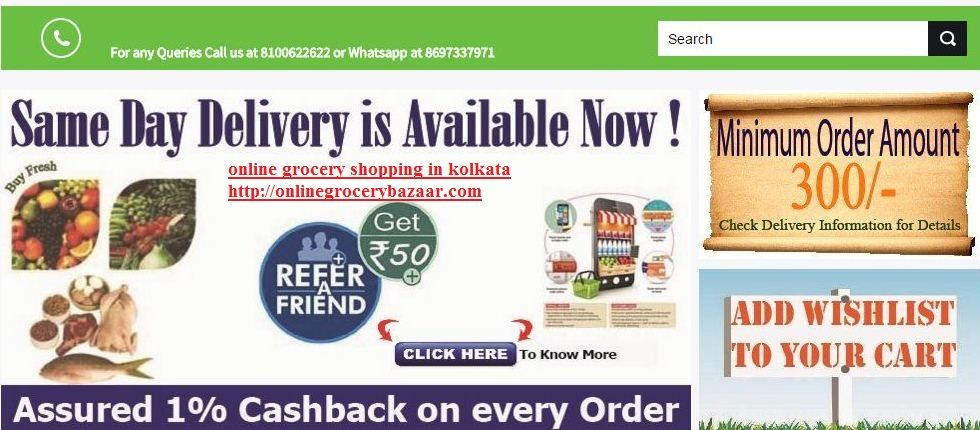 Online Grocery Store in Kolkata for purchasing daily need items - refund policy