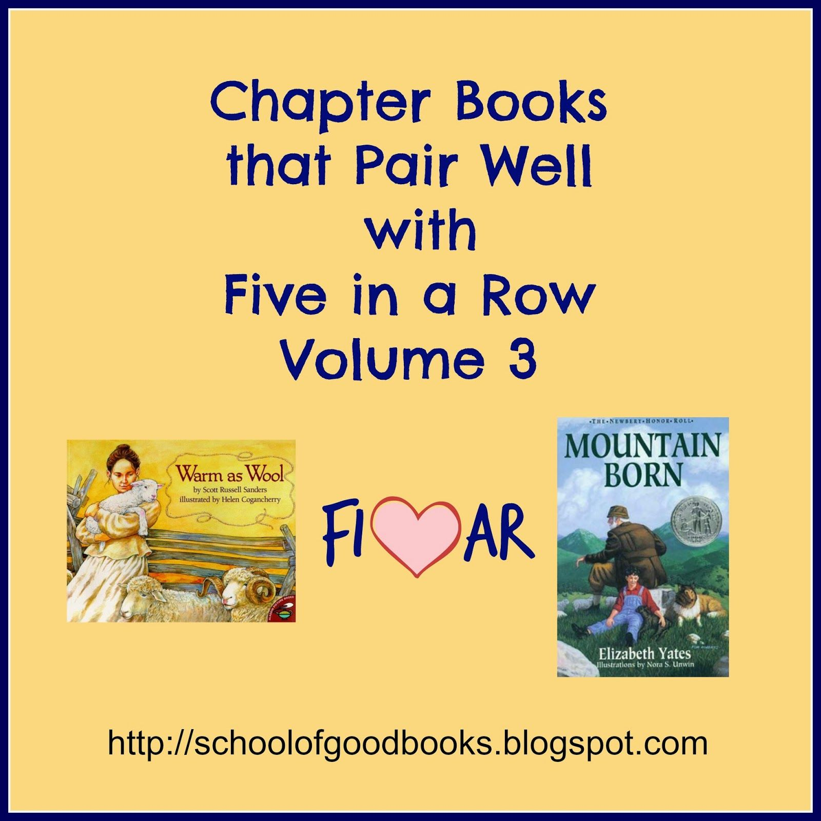 School Of Good Books Chapter Books That Pair Well With Five In A