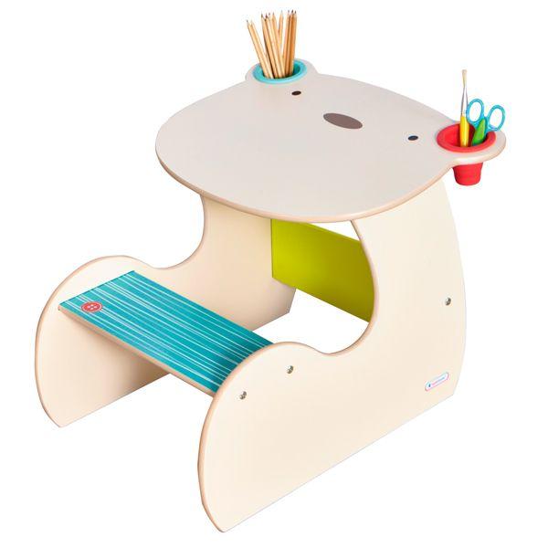 Pupitre de madera osito muebles infantiles pinterest - Pupitre infantil madera ...