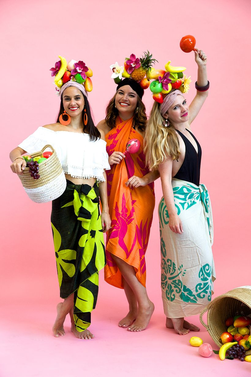 DIY Tropicana Girl Costume Group halloween costumes, Diy