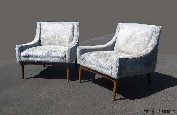 Best Pair Of Vintage Mid Century Modern Baby Blue Accent Chairs 400 x 300