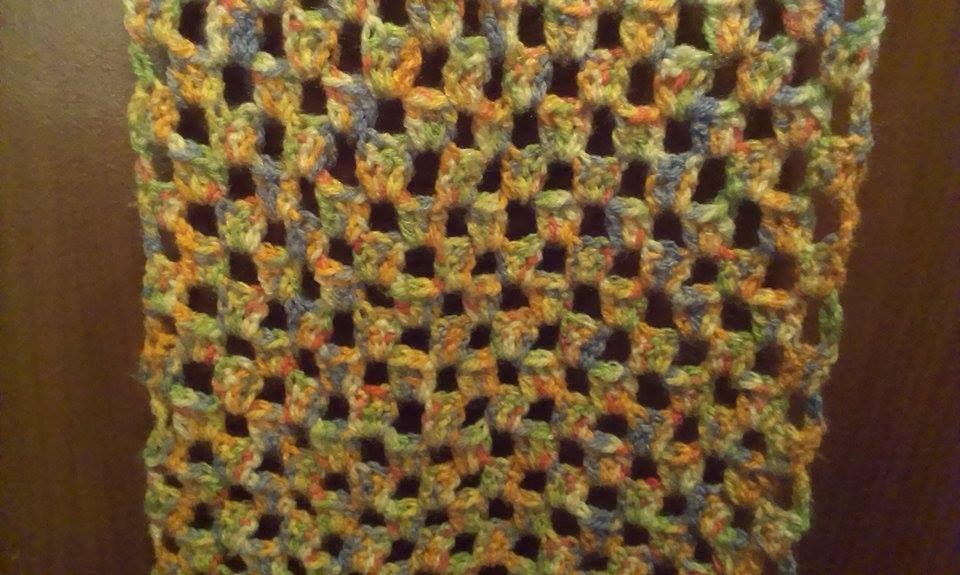 Crochet Scarf.  Super Simple Pattern.   By me.