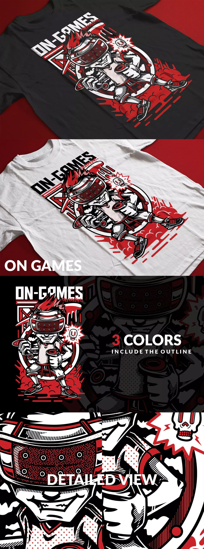 Games T Shirt Design Template AI EPS