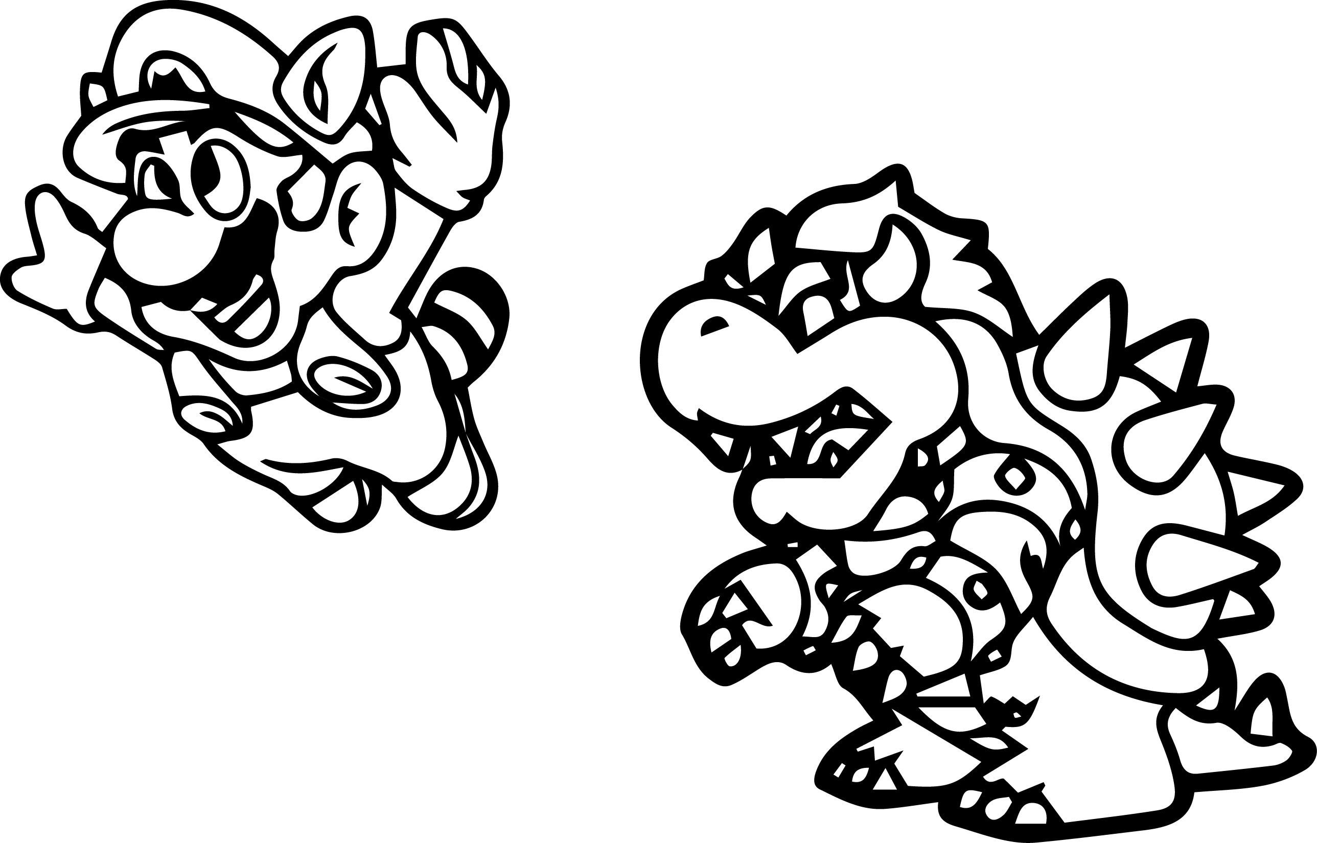 awesome coloring page mario bros and luigi nintendo 4771
