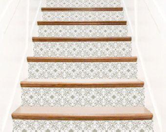 marrakesch graue treppe wandtattoo eine marrakesch note zu ihrem treppenstufen in grau pastelle. Black Bedroom Furniture Sets. Home Design Ideas