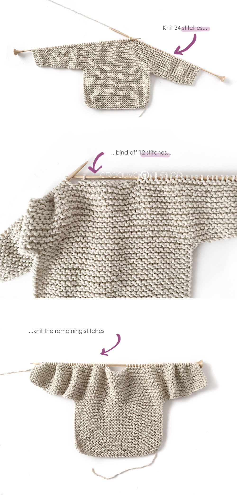 Knitted Kimono – NUR Baby Jacket Pattern & Tutorial #babypullover