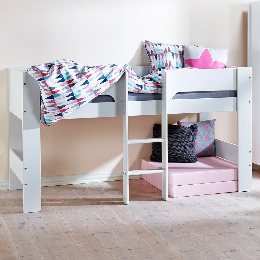 Loft bed with slide and tent  FlexaMidSleeperKidsBedBasicFrameg  Kids  Pinterest  Mid