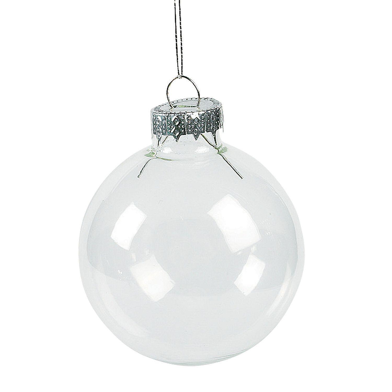 DIY Clear Round Christmas Ornaments christmas