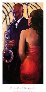 Sophisticated. #AfricanAmerican #art  It's A Black Thang.com - African American Art - Romantic & Erotic