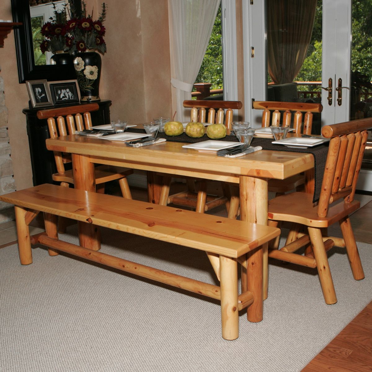 26 Big & Small Dining Room Sets with Bench Seating | White cedar ...