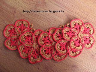 Lana e Cotone (maglia e uncinetto): Presine a fiore