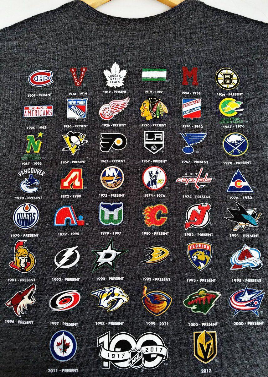 Fbf Years Of Nhl Hockey Sport Hockey Hockey Hockey Logos
