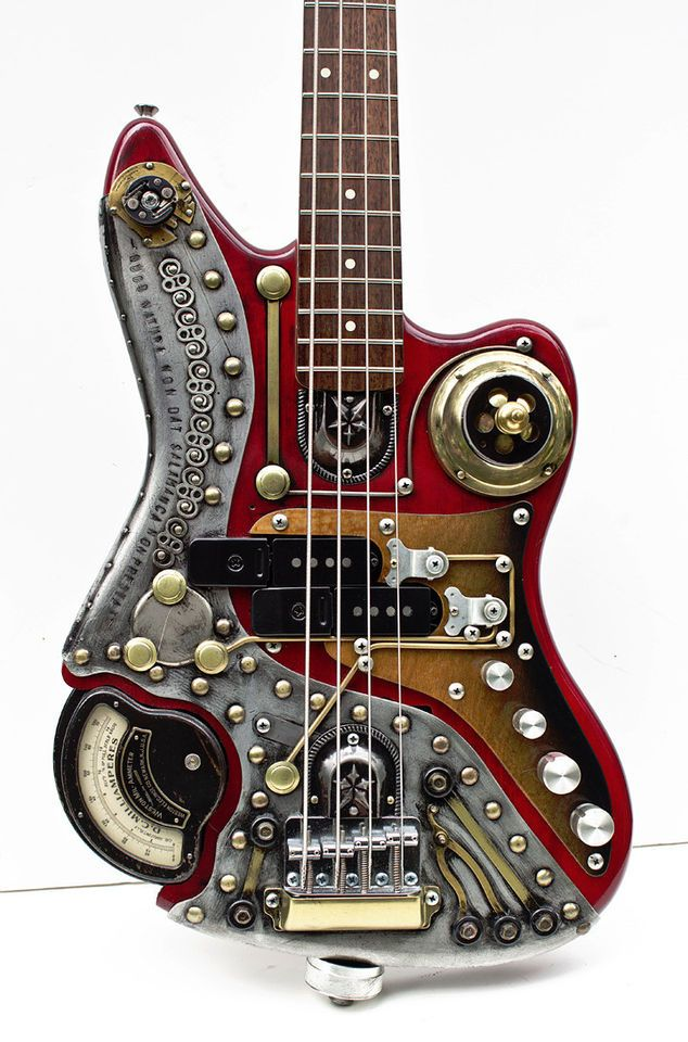 here is a steam punk custom bass found on an ebay auction i wonder how it sounds i just looks. Black Bedroom Furniture Sets. Home Design Ideas