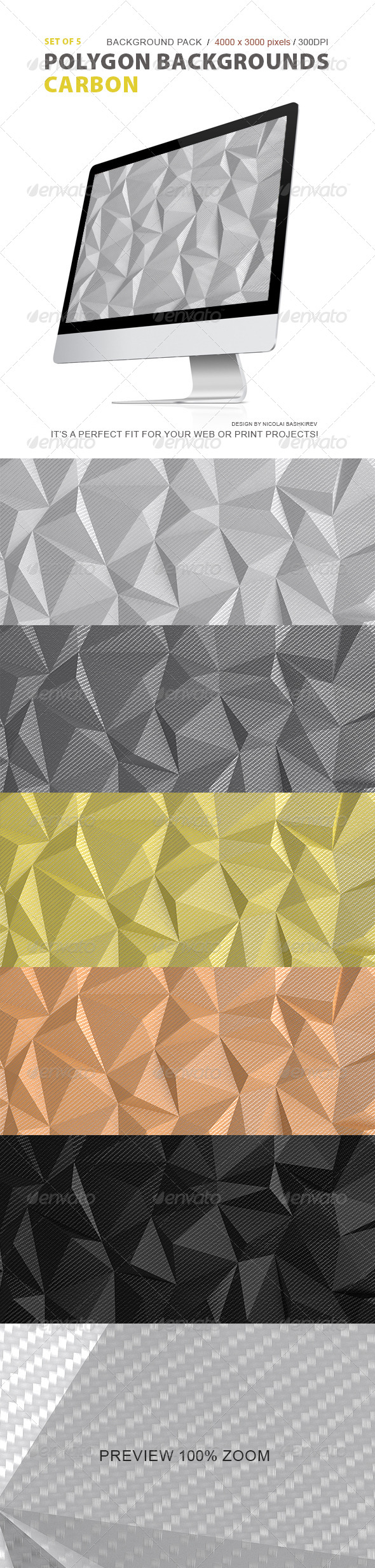 Polygon Backgrounds Carbon