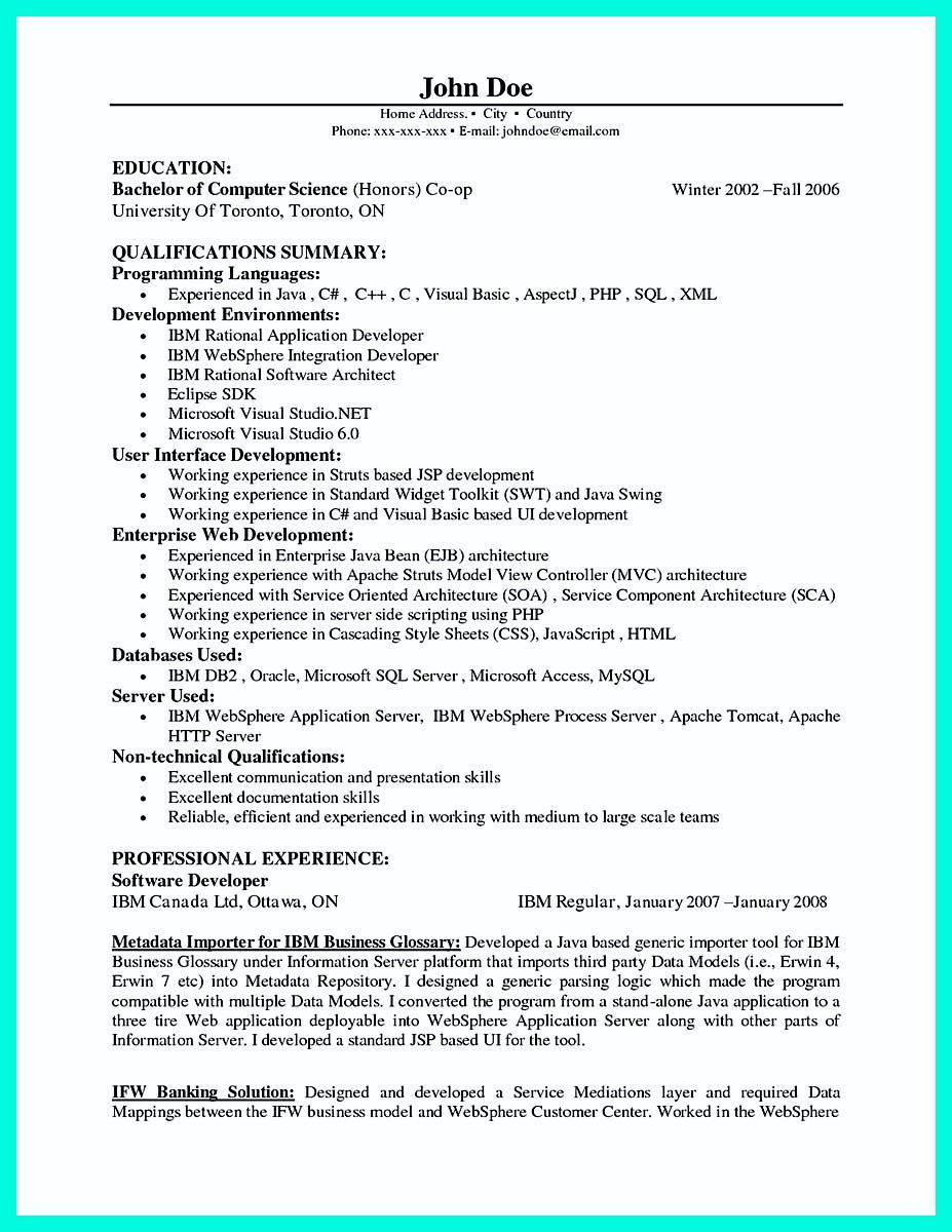 Programmer Resume Example Nice Computer Programmer Resume Examples To Impress Employers Check .