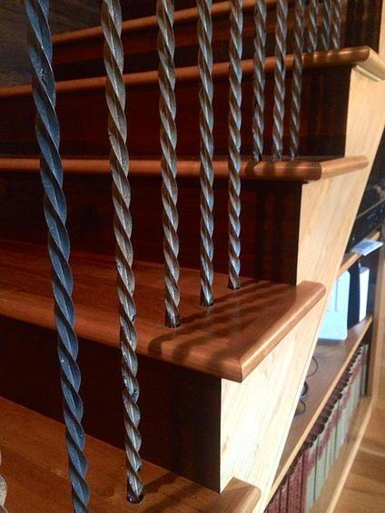 Railing - like the twisted iron rails - better than rebar ...