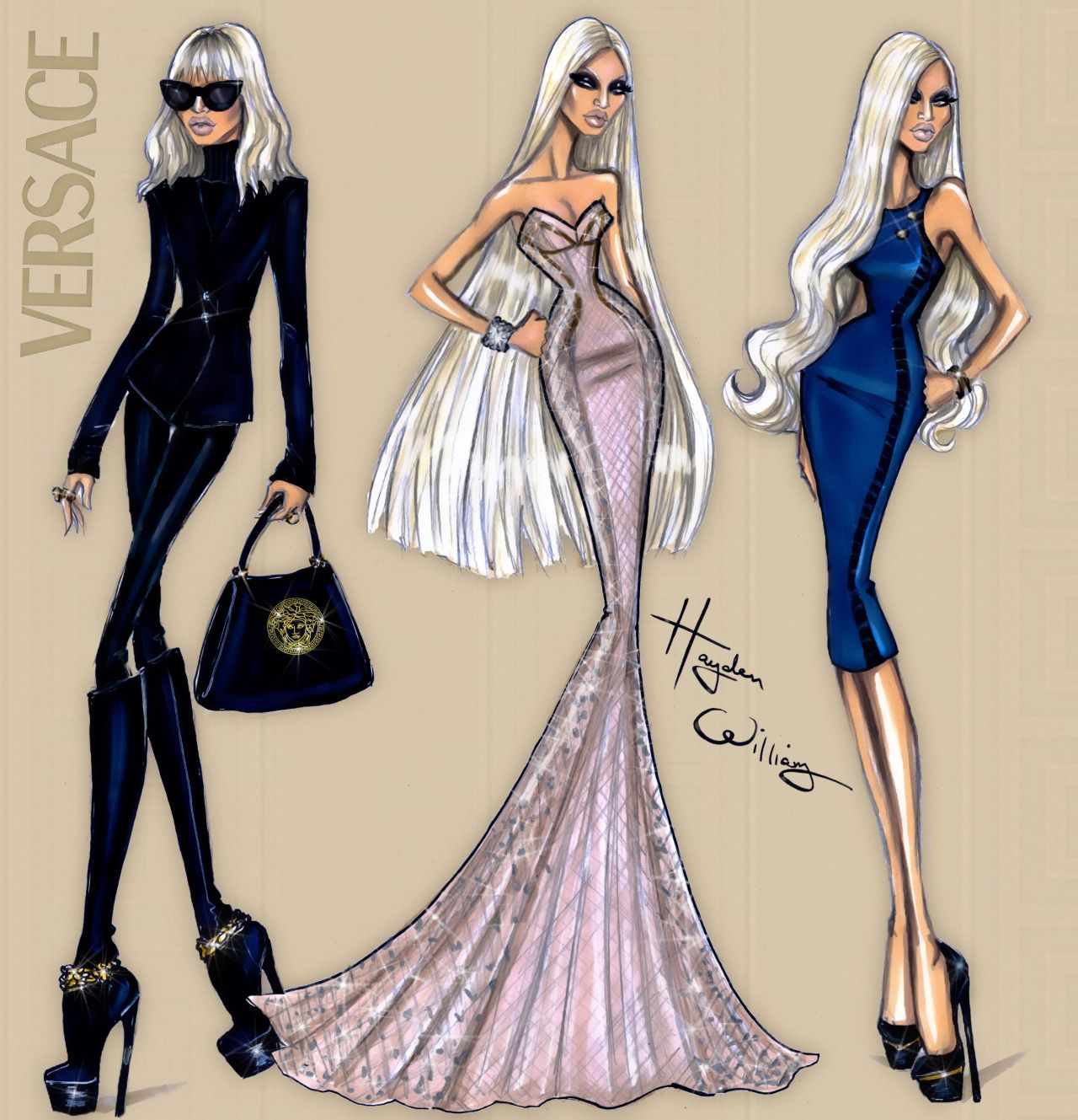 Donatella Versace Sketches