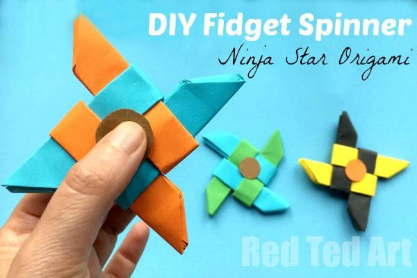 Easy Fid Spinner DIY Free Template Science Fair Project Idea