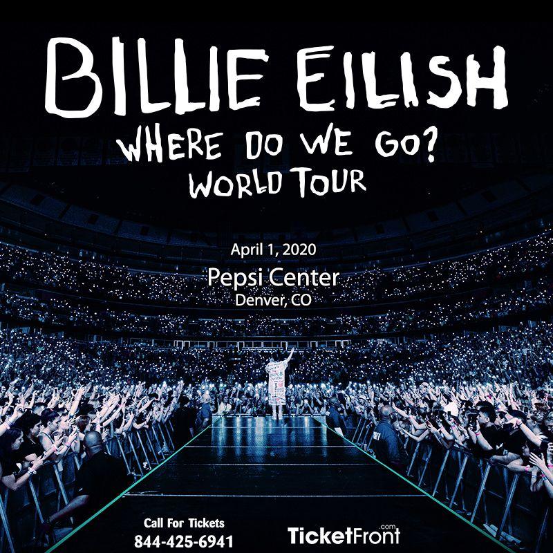 Billie Eilish At Pepsi Center Billie Eilish Billie Bankers Life Fieldhouse