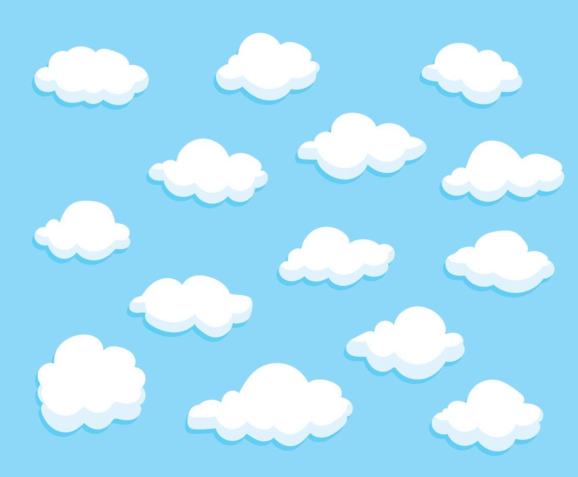 Cartoon clouds vector. Collection set of variation