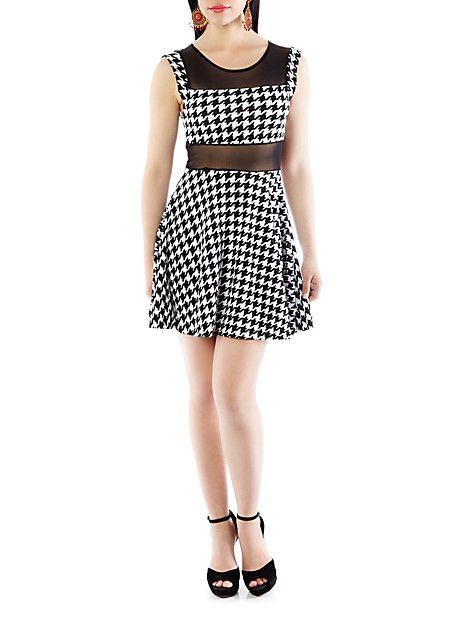 My new dress =D...Sleeveless Houndstooth Dress