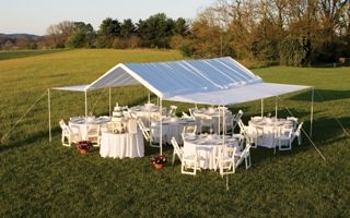 I Think This Is The Way To Go Who Wants To Help Diy 20x30 Tent Made Out Of Pvc Piping Outdoor Tent Party Outdoor Tent Wedding Backyard Wedding Reception Tent