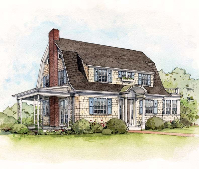 Early 20th century suburban house styles suburban house for Dutch colonial house plans with photos