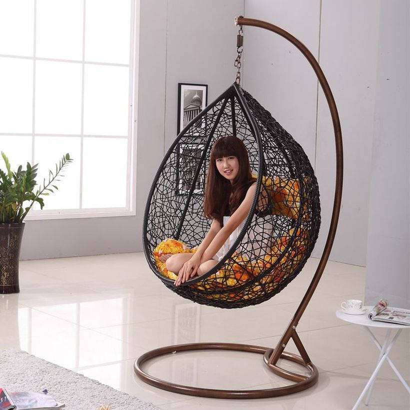 Mid Century Rattan Chair, Cool Hanging Swing Chair With Stand For Indoor Decor 38 Swingchair Indoor Chairs Indoor Swing Chair Hanging Chair With Stand