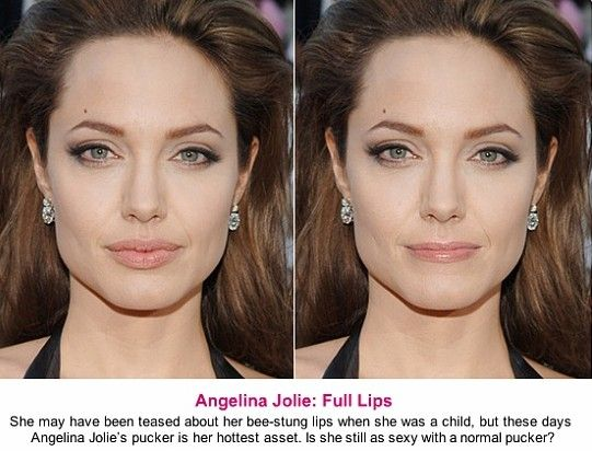 Angelina Jolie Photo-Edited To Have Average-Sized Lips  Beauty Before -5703
