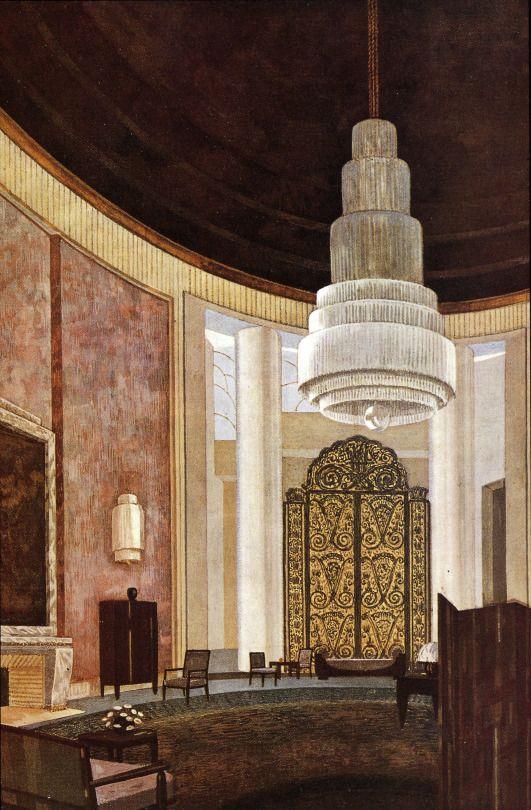 The Grand Salon, Emile-Jacques Ruhlman (French, 1879-1933) Hôtel du ...