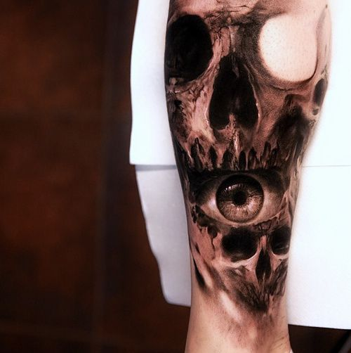 Awesome Tattoos Inked Tattoo Ink Realism Skull Tattoo Realistic
