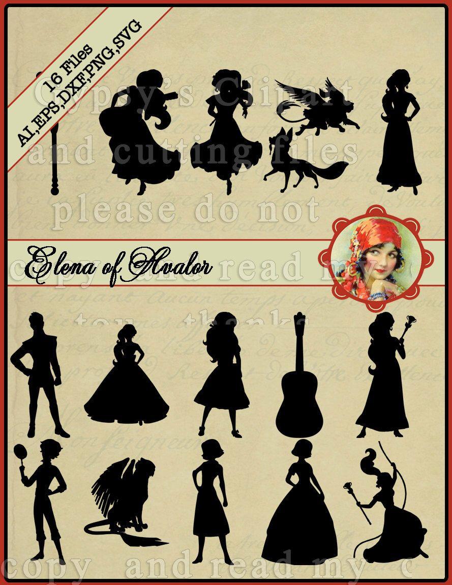 Elena of Avalor SVG, Elena Silhouette, Disney Princess Elena, Disney ...