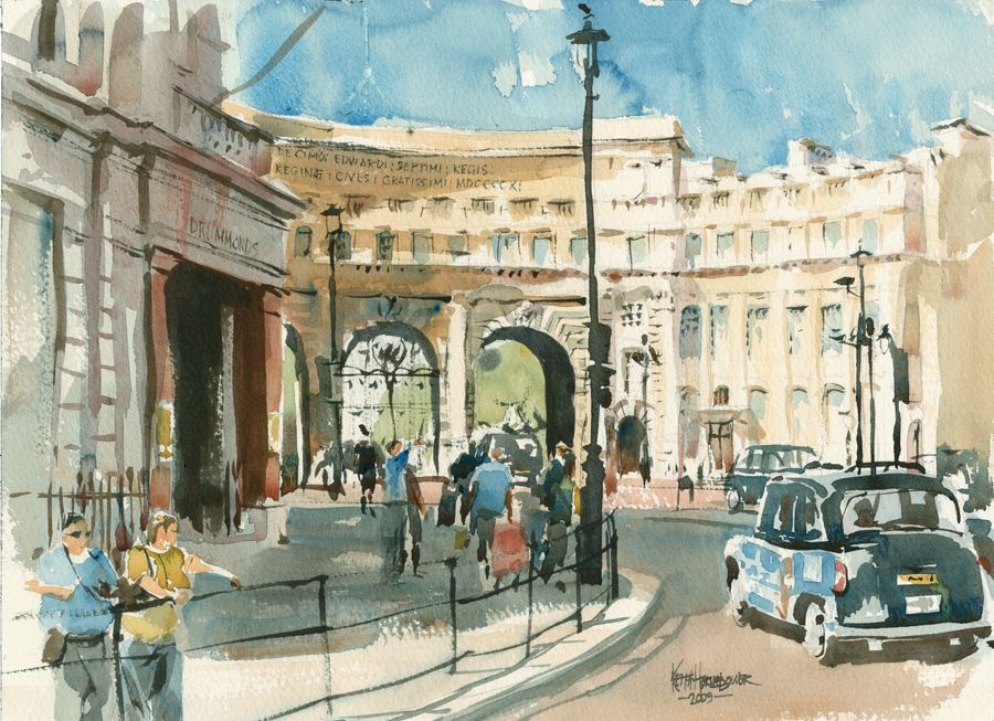 admiralty-arch-watercolour-keith-hornblower.jpg (900×653)