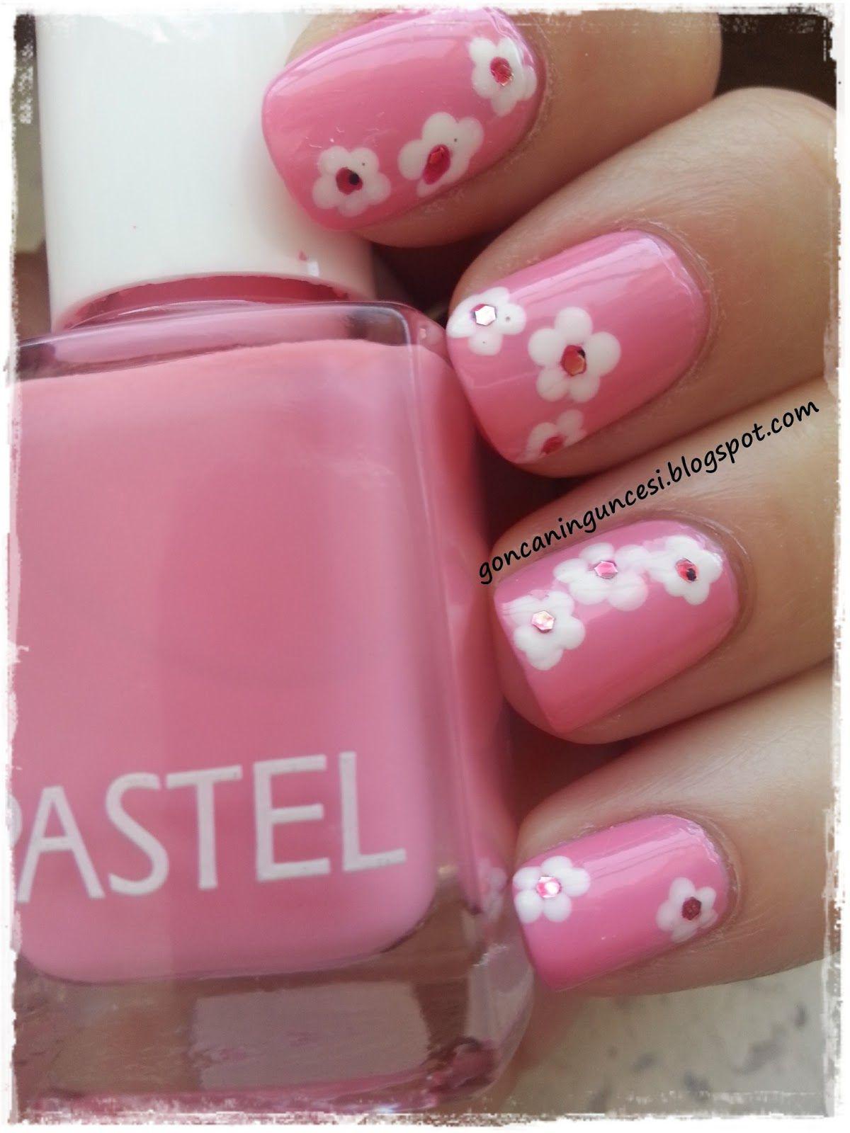 Polka Dot Flowers Nail Art Nail Art Pinterest Flower Nails