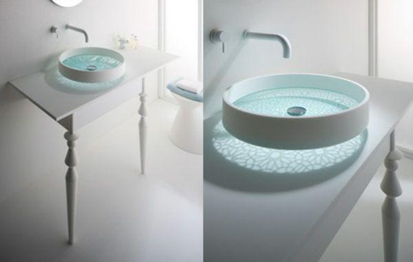 Waschbecken Für Badezimmer schickes waschbecken badezimmer design rund bathroom