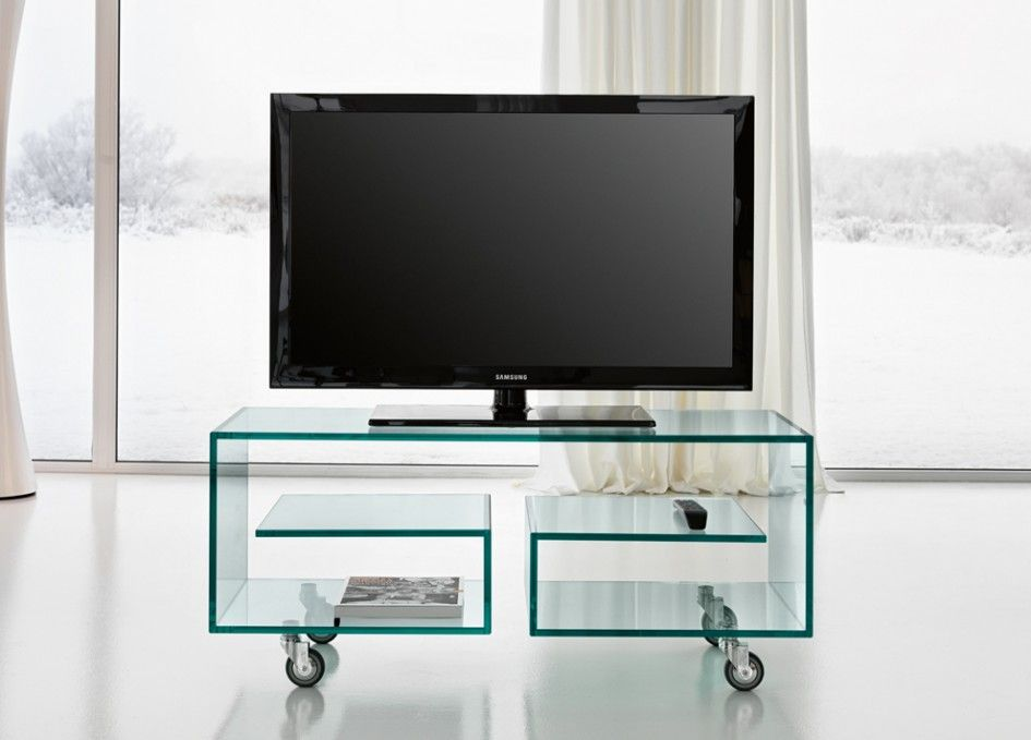 TV Stands: Awesome Glass TV Unit Design Small Casters Glass Door, Hidden  Lights, Elegant Touch ~ Miaohuifac.com