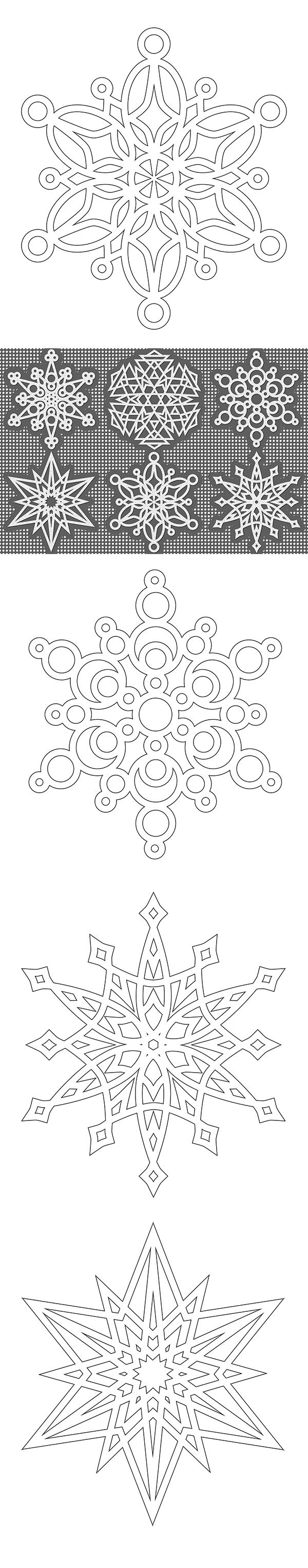 Copos de nieve | Snowflakes | Pinterest | Nieve, Mandalas y Navidad
