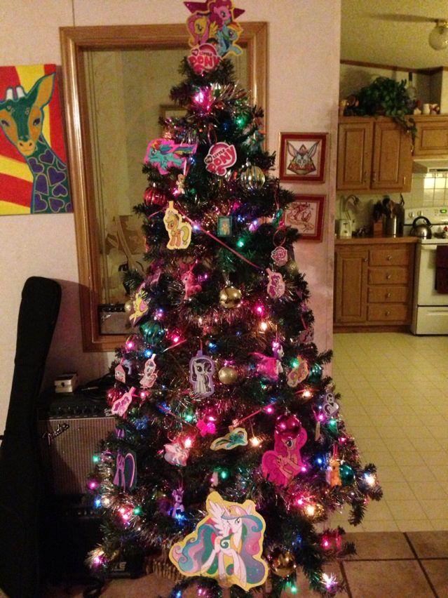 My Little Pony Christmas Tree By Unicornkiddo On Deviantart Christmas Tree Themes Christmas Tree Christmas Decorations