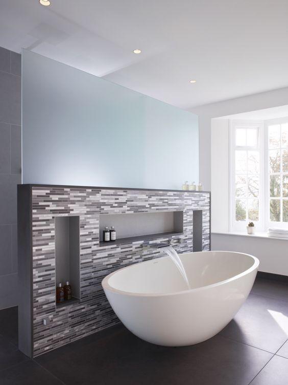 Photo of Decorazione Inspi per evidenziare una vasca da bagno! 20 idee stimolanti … – piccolo bagno