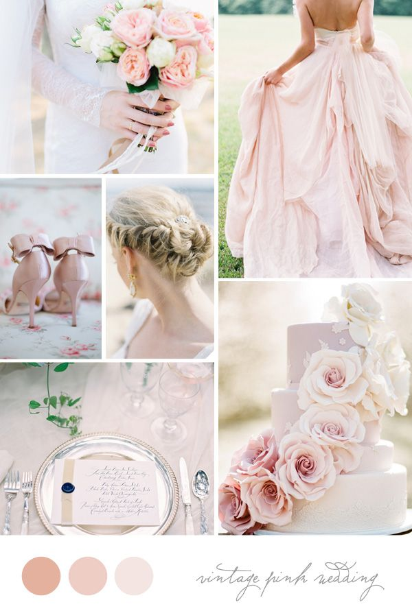 Inspiration Board: Vintage Pink Wedding | Vintage pink, Inspiration ...