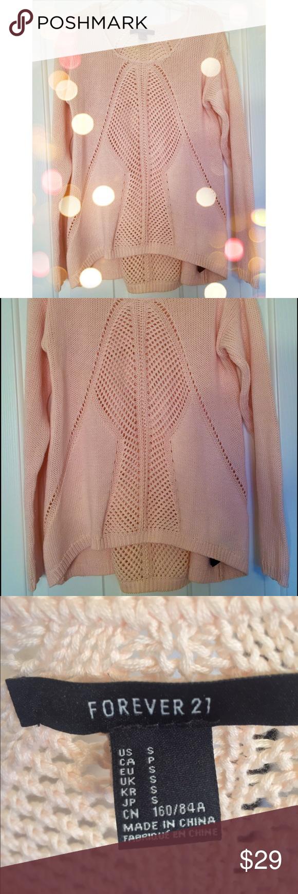 Light Pink Forever 21 Sweater 😍💝 Super cute light pink sweater ...