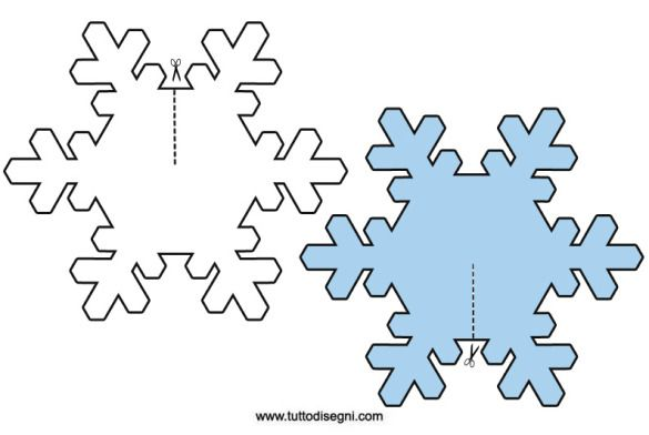 Fiocchi Di Neve 3d Sagome Da Ritagliare Festività Ed Eventi