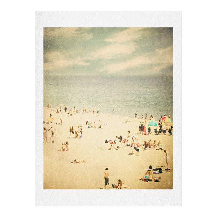 Shannon Clark Vintage Beach Art Print Deny Designs Home Accessories Beach Canvas Wall Art Beach Canvas Art Beach Canvas