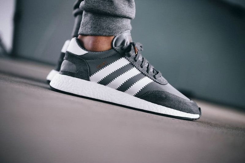 Really Cheap New adidas Iniki Runner Boost Grey Ash Grey White On Feet 003c3c1d4